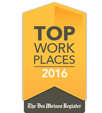 Dupaco named a Top Workplace for 2016 by the The Des Moines Register