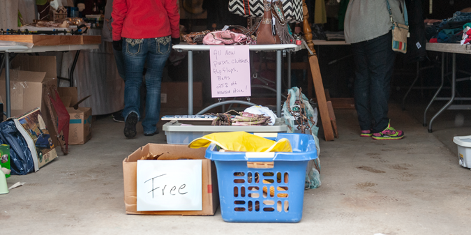 How to price your garage sale items. Consider a freebie box.