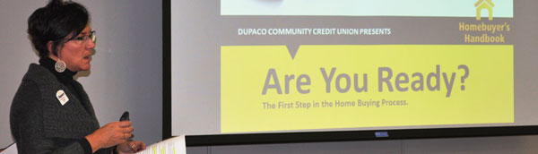 Jeann Digman, Dupaco's Real Estate expert, presents on homebuying