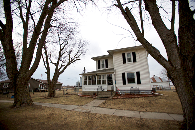 Because of Dupaco, Linda Jackson was able to keep her home in Morley, Iowa. The town is eight miles south of Anamosa, Iowa, and its current population is 112. (M. Burley photo)