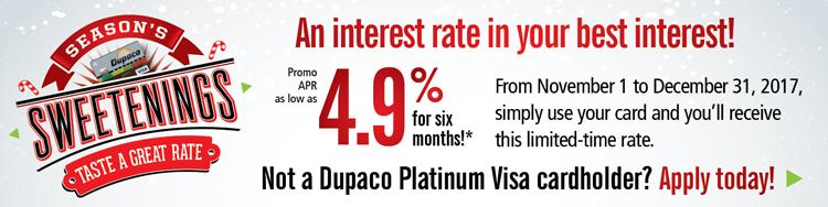 Season's Sweetenings: An interest rate in your best interest!