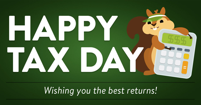 Happy Tax Day! Wishing you the best returns!