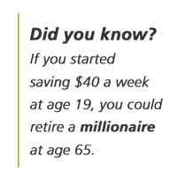 save early to reach millionaire status