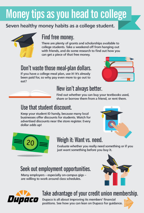Money tips as you head to college