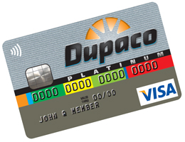 Dupaco Platinum Visa credit card