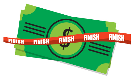 The participant with the highest credit score at the finish line will win $1,000.