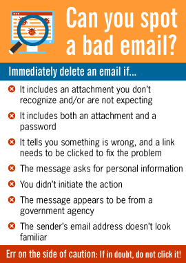 Can you spot a bad email?