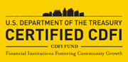 U.S. Department of the Treasury Certified CDFI; CDFI FUND, Financial Institutions Fostering Community Growth