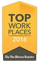 Top Workplaces 2016 - Des Moines Register